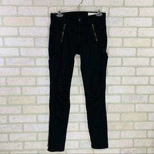 Rag & Bone Black Rally Cargo Skinny Jeans Size 26
